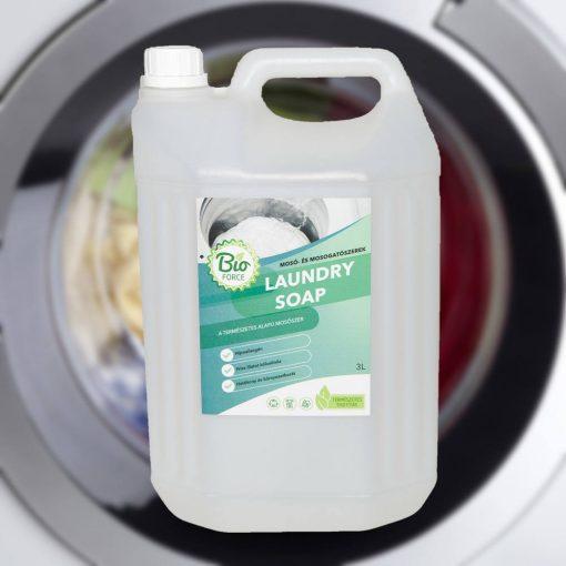 BIOFORCE LAUNDRY SOAP, hipoallergén folyékony mosószer automata mosógépekhez és kézi mosáshoz
