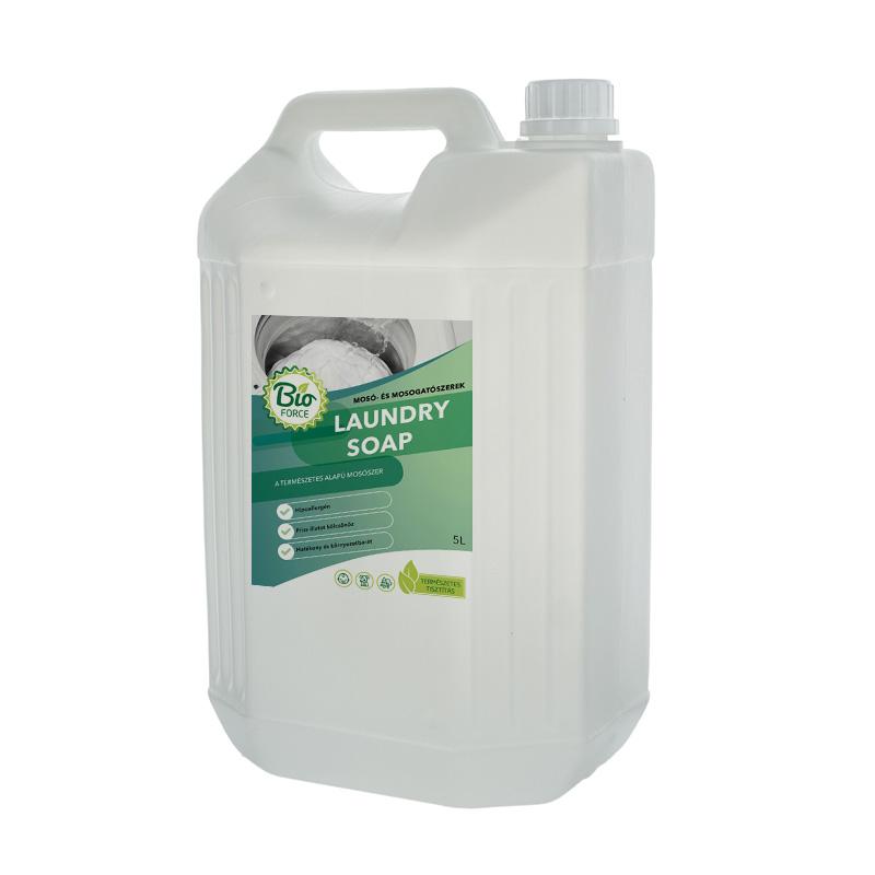 BIOFORCE LAUNDRY SOAP, hipoallergén folyékony mosószer automata mosógépekhez és kézi mosáshoz 1-, 3-